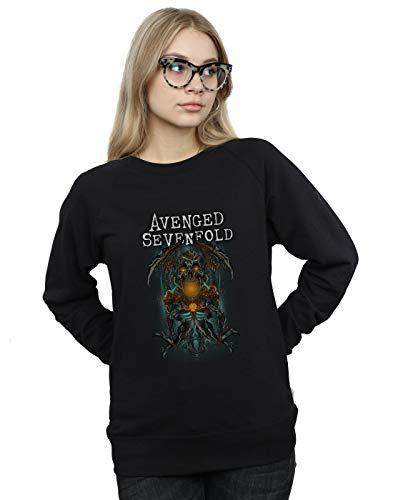 Absolute Cult Avenged Sevenfold Damen Oracle Deathbat Sweatshirt Schwarz Large