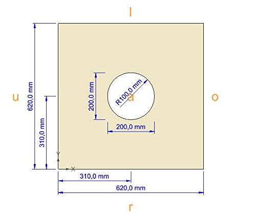 16 mm DIWARO Verstärkungsplatte mit 200 mm Loch für Rasterdecken zum einbauen von Strahler, Lautsprecher und Downlights