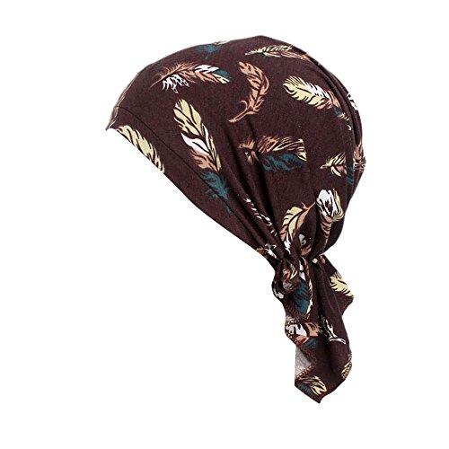 Rosennie Kopftuch Damen Elastischer Baumwollhut Frauen Moslemischer Turban Damen Mütze Muslim Kopftuch Drucken Chemo Kopfbedeckung Kopftuch Hut für Haarausfall Krebs,Chemotherapie