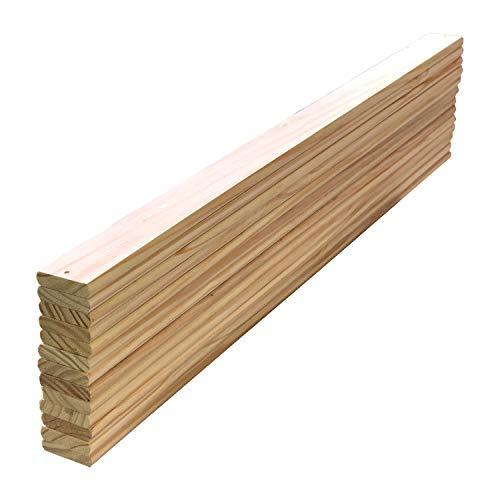 Listones de madera de pino macizo, tamaño de cama individual, listones de madera, mm de largo x 88,9 mm x 16 mm, paquete de 13 piezas de repuesto de repuesto de tamaño personalizado