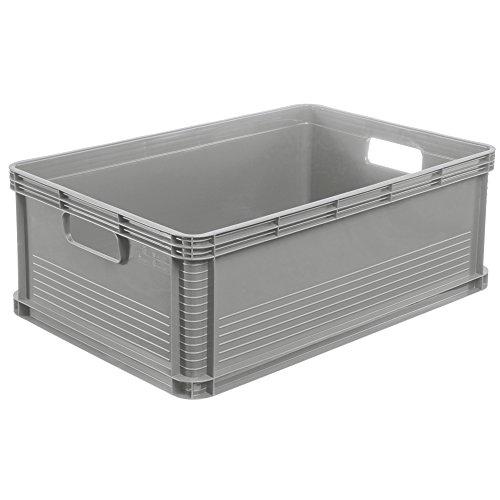 45 Liter Stapelbox  Stapelkästen Euro Box Europalette grau Gewerbekiste
