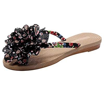 RAINED-Women's Flip Flops Summer Bohemian Flats Sandals Ethnic Style Thong Sandals Beach Walking Clip-Toe Slippers