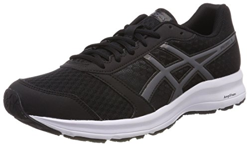 Asics Patriot 9, Zapatillas de Running para Hombre, Negro (Black/Fiery Red/White 9023), 45 EU