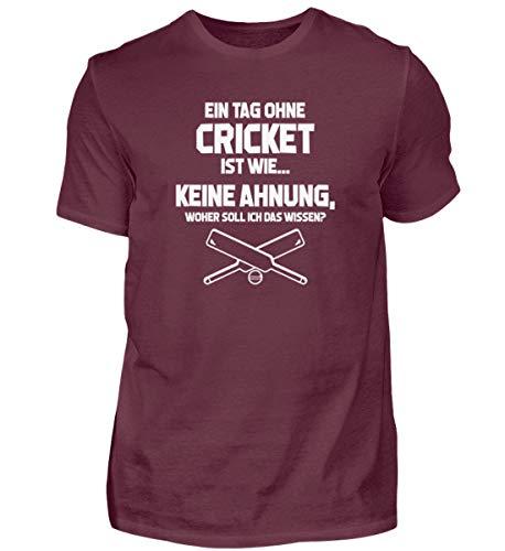 Kricket: Tag ohne Cricket? Unmöglich! - Herren Shirt -XL-Burgundy