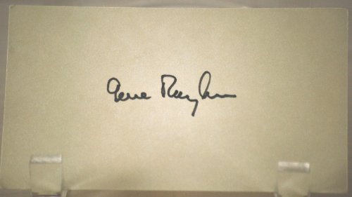 Gene Rayburn Vintage Autograph - 3x5 Card - Best Known & Loved Game Show Host - To Tell the Truth/What's My Line? / Match Game/Hollywood Squares/Howard Stern - Very Collectible - Rare