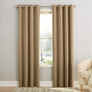 Sun Zero Barrow Energy Efficient Grommet Curtain Panel 54  x 84  Taupe