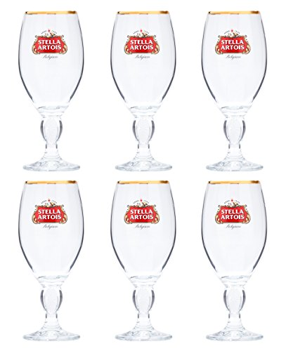 Set of 6 Stella Arotis 33 Centiliter (Cl) Chalices by Stella Artois