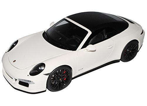Schuco Porsche 911 991 Carrera GTS Cabrio Weiss Ab 2011 1/18 Modell Auto mit individiuellem Wunschkennzeichen