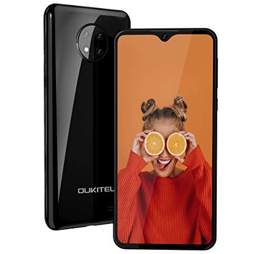 Moviles Baratos,OUKITEL C19 Android 10 Telefonos Moviles Libres 4G Dual SIM,Pantalla 6,49 Pulgadas 4000 mAh Móviles y Smartphones Libres 16GB ROM 128GB SD Face ID,Negro