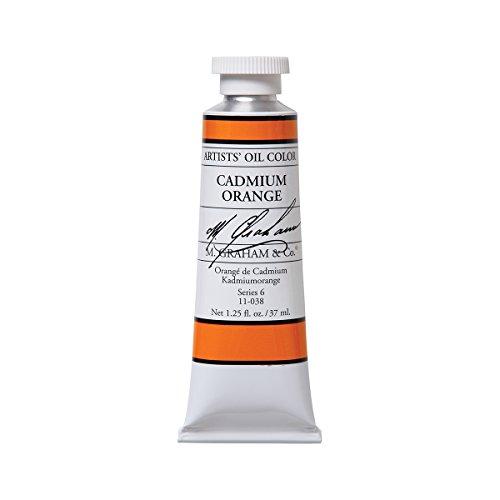 M. Graham Artist Oil Paint Cadmium Orange 1.25oz/37ml Tube