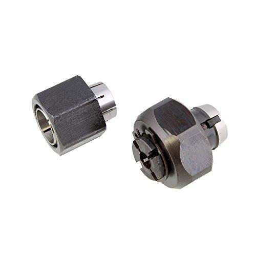"Superior Electric 2 piece Router Collet Kit 1/4"" and 1/2"" Replaces Dewalt 326286-04, 326286-03, Bosch 2610906283, 2610906284, Hitachi 323-293, 323-421"