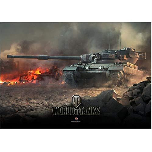 WDQFANGYI Carteles De Juegos En HD De World of Tanks, Pintura En Lienzo, Sala De Estar, Dormitorio, Bar, Decoración De Pared para El Hogar, 50X70Cm (FLL5388)