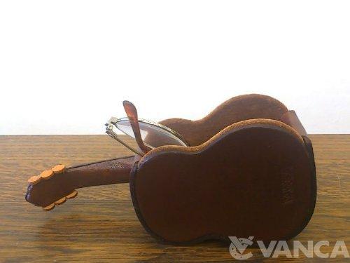バンカクラフト革物語『本革メガネスタンドギター』