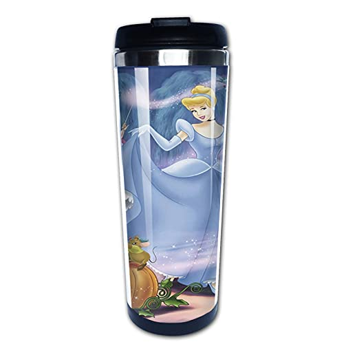 Taza de café de la princesa de la historieta de la taza de la botella de agua del acero inoxidable taza del café con tapa