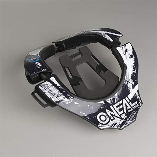 O'NEAL | Motocross-Protektor | MX MTB Mountainbike Enduro Motorrad | 2 Zonen zum Einstellen, 2 Vorderpolster, Verschlussmechanismus | Tron Neckbrace Shocker | Erwachsene | Schwarz Weiß | One Size