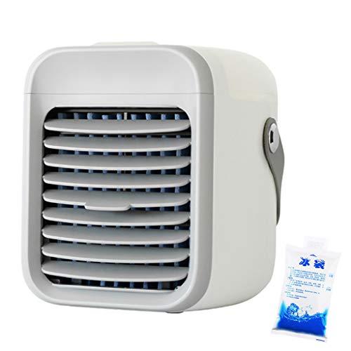 UKtrade 2020 más nuevo aire acondicionado ventilador aire acondicionado mini USB aire acondicionado ventilador ventilador de escritorio con 3 bolsas de hielo