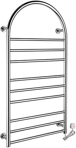 Radiadores de baño Calentador de toallas, calentador de toalla eléctrica montado en la pared, estante de toalla eléctrica de 9 bar, espejo pulido, mejor opción para la decoración del baño en su hogar