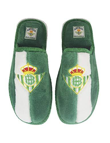 Zapatillas de casa de equipos de fútbol con licencia oficial Real Betis - Color - Verde, Talla - 35