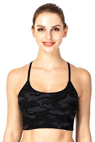 Sunzel Sujetador deportivo para mujer sin mangas para yoga, fitness, entrenamiento, correr, etc. - gris - Medium