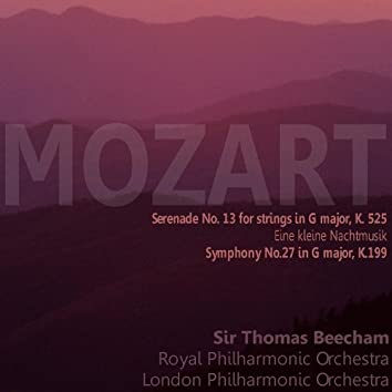 "Mozart: Serenade No. 13 for Strings in G Major, K. 525, ""Eine kleine Nachtmusik""; Symphony No. 27 in G Major, K. 199"