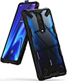 Ringke Fusion-X Compatible with Mi 9T Case, Mi 9T Pro Case, Redmi K20 Case, K20 Pro Case, Clear Back Heavy Duty Shockproof TPU Rugged Bumper Phone Cover - Black