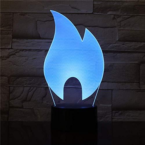 DFDLNL The Flame 3D Lamp Batería de luzLED de NocheColoridalámpara Personalizada Maravilloso Regalo para Adolescente