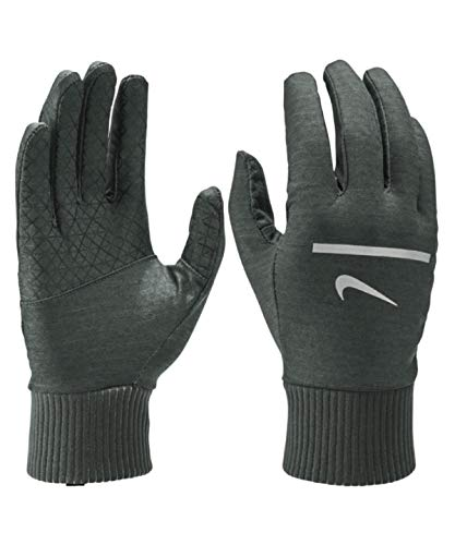 Nike Men's Dri Fit Heathered Sphere Touch Screen Running Gloves (Medium, Grey)