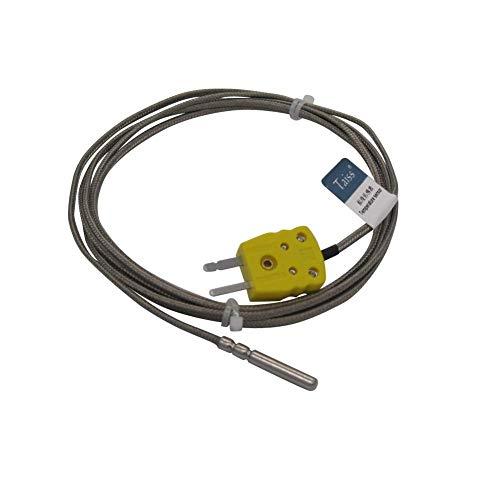 KAIBINY THERMISTOR K-TIPO SENSOR SONDES METAL Cabezal para la sonda K-Tipo Termopar Sensor y medidor Controlador de temperatura con enchufe, sonda larga (4 × 30 mm) Rango de temperatura de 0 a 600 ° C