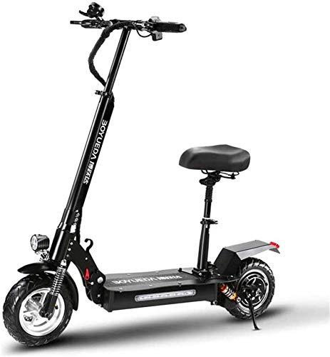 Bicicletas Eléctricas, Bicicletas rápidas y Eléctrica en adultos 1200W motor 10 pulgadas Off-Road neumáticos de vacío, Velocidad máxima 55 kilometros / h, Kick Scooter eléctrico con batería de litio d