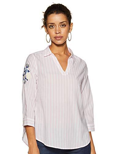 Van Heusen Woman Women's Regular fit Shirt (VWTSFRGBH88255_Peach M)