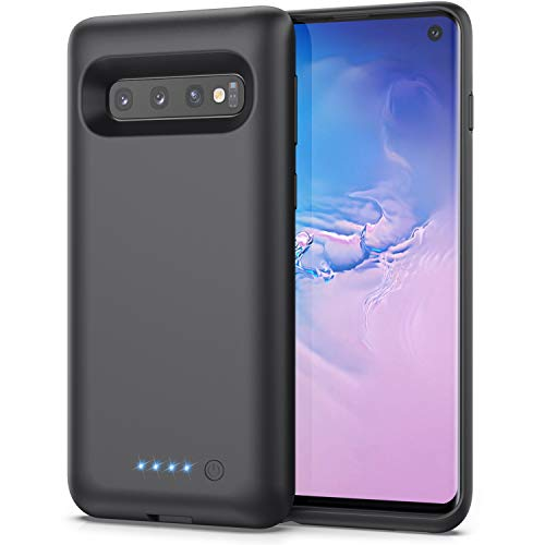 """Trswyop Cover Batteria per Samsung Galaxy S10, 【7500mAh Alta Capacità】Cover Caricabatterie Cover ricaricabile per Samsung Galaxy S10 Custodia Batteria Esterna Battery Case Power Bank Charger Case 6.1"""""""