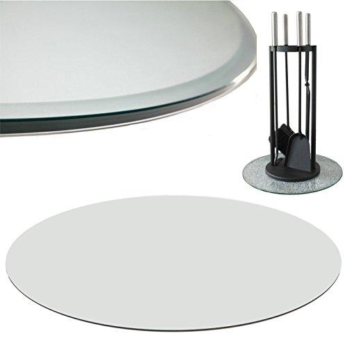 Euro Tische Glasplatte für Kaminofen rund - Glasscheibe mit 6mm ESG Sicherheitsglas - perfekt geeignet als Funkenschutzplatte - Verschiedene Größen (70 cm, Klarglas)