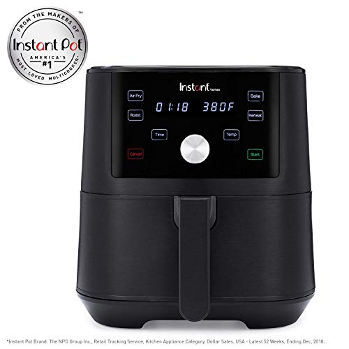 Instant™ Vortex™ 6-Quart 4-in-1 Air Fryer with Roast, Broil, Bake, and Reheat functions (Renewed)