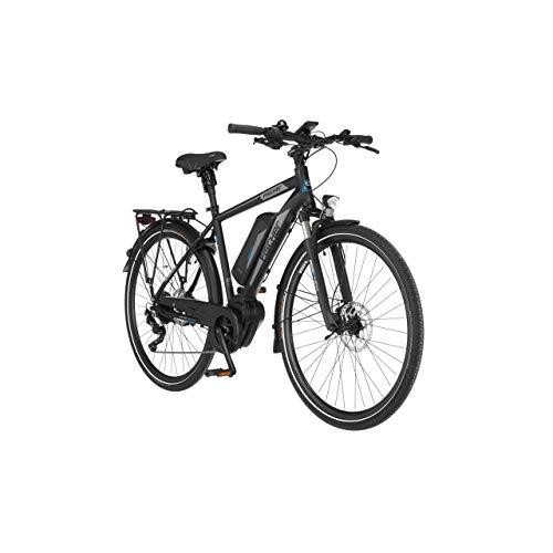 FISCHER Herren - Trekking E-Bike ETH 1861.1, Elektrofahrrad, schwarz matt, 28 Zoll, RH 55 cm, Mittelmotor 80 Nm, 48 V Akku