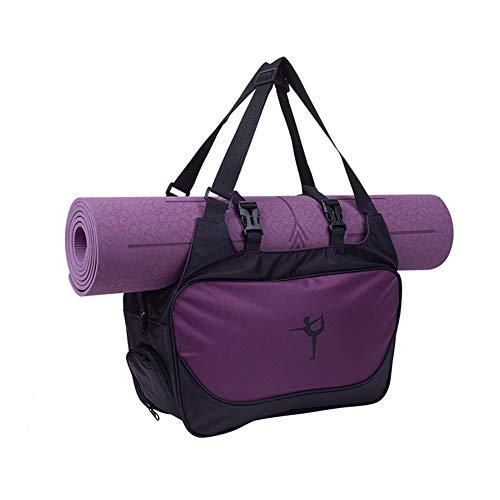 yueydengsun Bolsa grande para esterilla de yoga, bolsa de gimnasio, impermeable, de nailon, para yoga, fitness, deportes, bolsa de hombro (morado), se adapta a la mayoría de esteras de tamaño