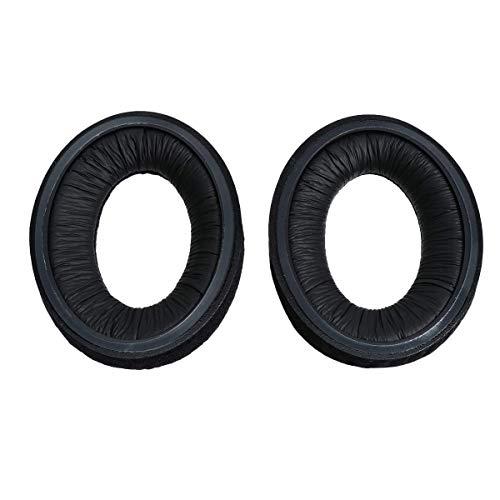 MM-Mobitec - Almohadillas para Auriculares compatibles con Sennheiser HD515, HD518, HD555, HD558, HD595 y PC360 (Poliuretano, con Espuma de Memoria), Color Negro
