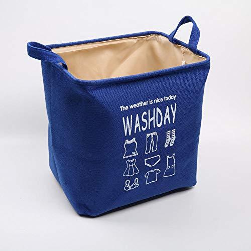 ZXXFR Opvouwbare wasmand, blauw van het moderne Europa voor thuis vuile kleding opbergdoos, draagbaar, eenvoudig beddengoed, vuil, opberger, praktische wasmand met handgreep