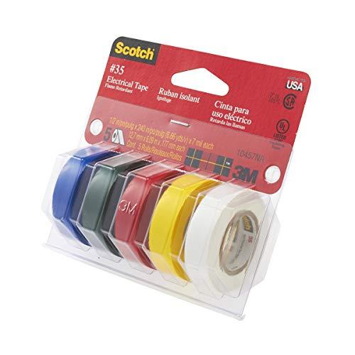 3M スコッチ ビニルテープ 35 5色入り 耐熱・難燃仕様 12.7mmx6m 35 MC [並行輸入品]