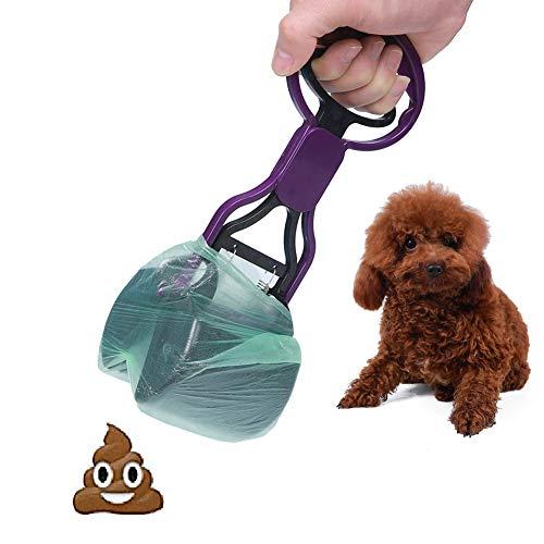 Scooper Long Handle, tragbare und schwere Poop Scoop Dog Waste Pickup Entfernung,Purple