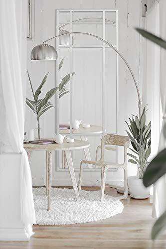 Standspiegel Ganzkörperspiegel, Weiss, aus Metall – Rechteckiger Ankleidespiegel | [H 160* B 60* T 3cm] | Designed in Dänemark | Garderobenspiegel groß, lang, stehend | vertikal/horizontal