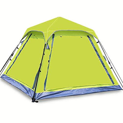 Dalovy Carpa Liviana,Carpa de Campamento Emergente Automática Al Aire Libre Parcela Rápida Fácil de Instalar Y Empaquetar Impermeable Anti UV Sol 3-4 Personas