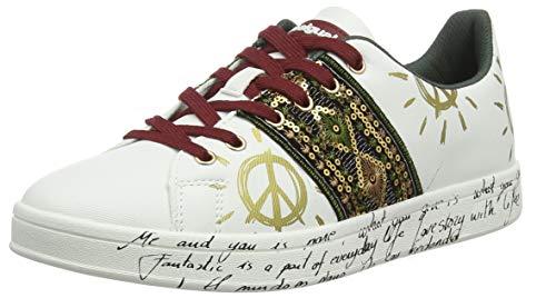 Desigual Damen Shoes Cosmic Exotic Sneaker, Weiß (White 1000), 37 EU