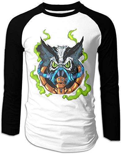 Godetss Stinkor Men's Game Raglan Long Sleeve Baseball T-Shirts Black,M