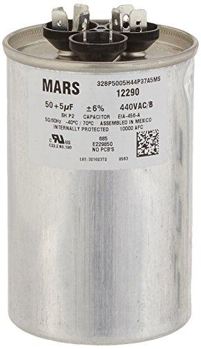 MARS - Motors & Armatures 12290 50 + 5 uF MFD x 440 VAC Genteq Replacement Dual Capacitor