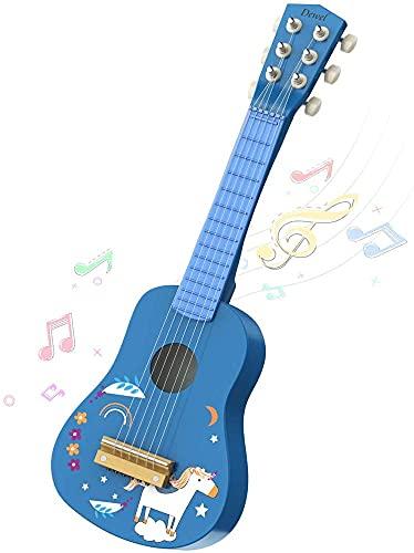 DEWEL Kids Ukulele Toy Guitar for Toddlers, Baby Kids Cute Guitar Rhyme Developmental...