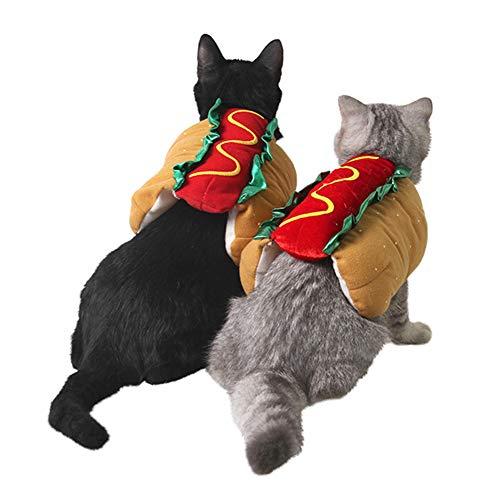 litty089 Warm Carnaval Grappige Hamburger Modelleren Huisdier Kitten Hond Jas Kleding Kleding Voor Kerstmis Party Cosplay Kostuum