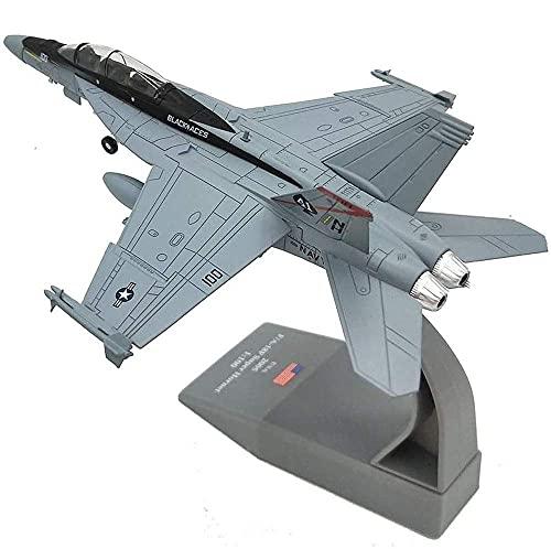 YQG Modelo de Caza Militar de aleación fundida a presión, Escala 1/100, Modelo de Caza F-18 de EE. UU. De la Segunda Guerra Mundial, Juguetes y Decoraciones para Adultos, 7,3 Pulgadas y Tiempos;