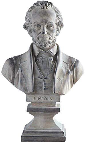 LZLYER Adornos de Decoración Del Hogar Escultura Conmemorativa de Abraham Lincoln Figura de Resina Estatua Busto Modelo Colección Ventana Decoración Artesanía Colección