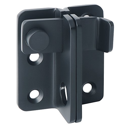 Alise Flip Latch 3-mm Thickened Heavy Duty Hasp Safety Door Lock Gate Latches for Double Door Window Barn Closet Drawer Cabinet Garage,MS3005-B Stainless Steel Matte Black
