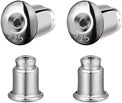Jotizen Earring Backs Replacements Sterling Silver Hypoallergenic Locking Backs for Stud Earrings product image